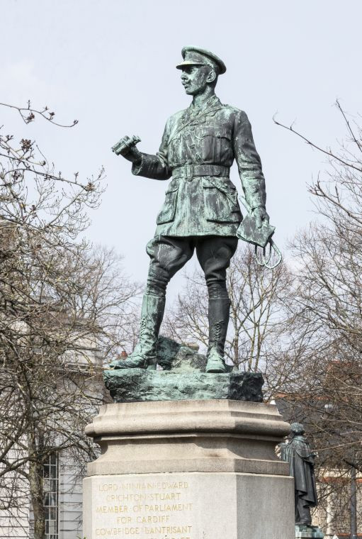 The statue of Lord Ninian Crichton Stuart in Cardiff