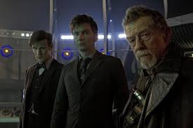 Matt Smith, David Tennant and John Hurt as the three Doctors in the 50th anniversary special, 'The Day of the Doctor'.