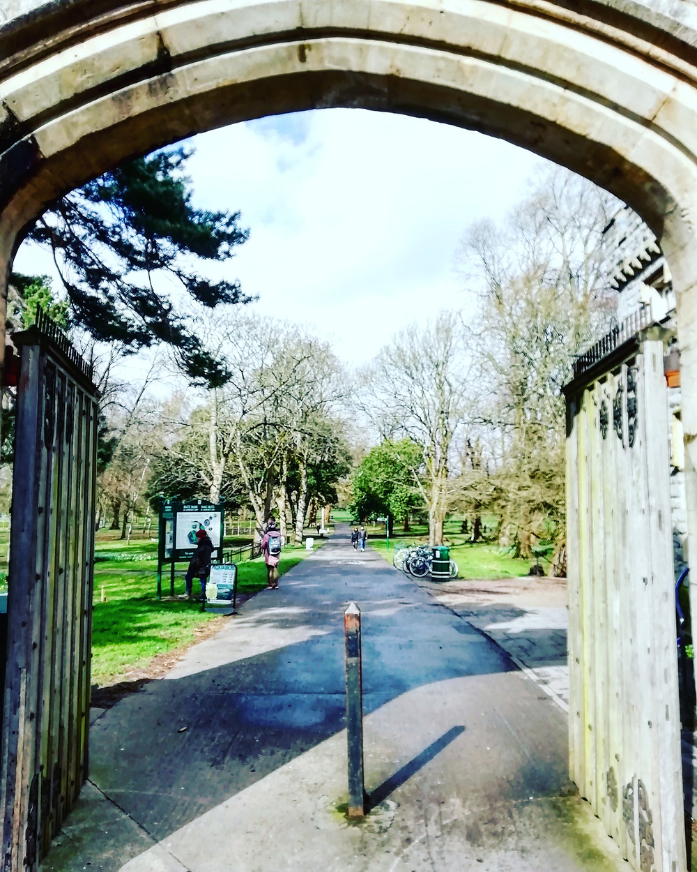 The Castle St. entrance to Bute Park in Cardiff.