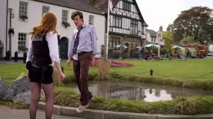 Matt Smith and Karen Gillan as the Doctor and Amy Pond in 'The Eleventh Hour'