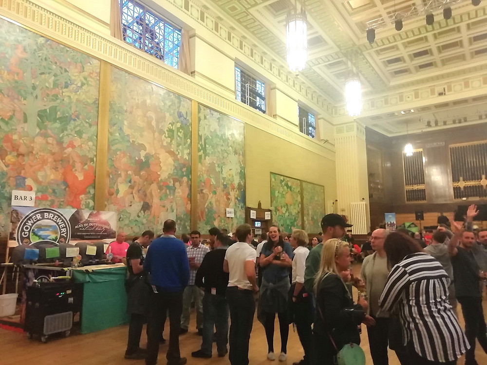 Brangwyn Hall in Swansea during the Beer and Cider Festival of 2019.