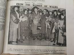 The Welsh League of Nations Union women's group who visited Washington D.C. in 1924 in the name of peace.