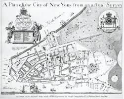A map of Manhattan, New York City, in the 17th century