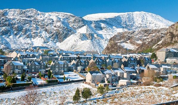 Blaenau Ffestiniog in the snow