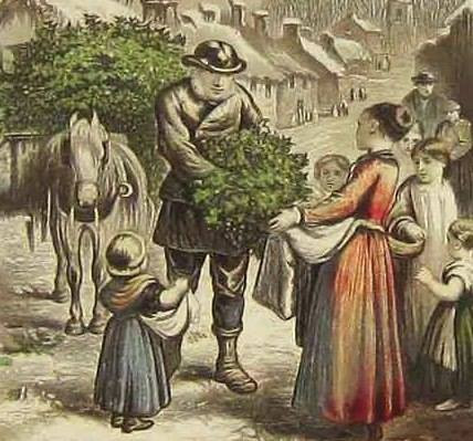 A Welsh Christmas tradition includes the act of holly-beating