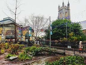 St John's Church and Cardiff Market, Cardiff