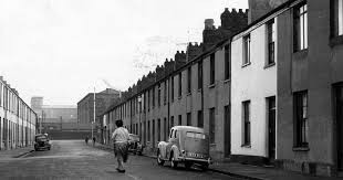 The old streets of Newtown, Cardiff, which are no longer with us today,