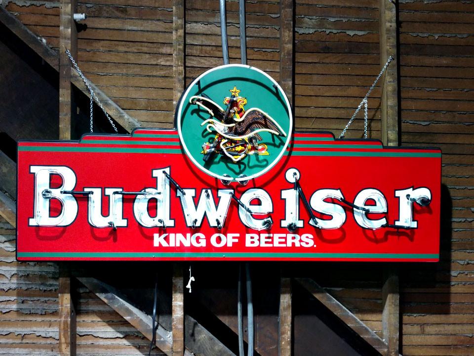 60 Inch by 28 Inch Budweiser Neon Sign