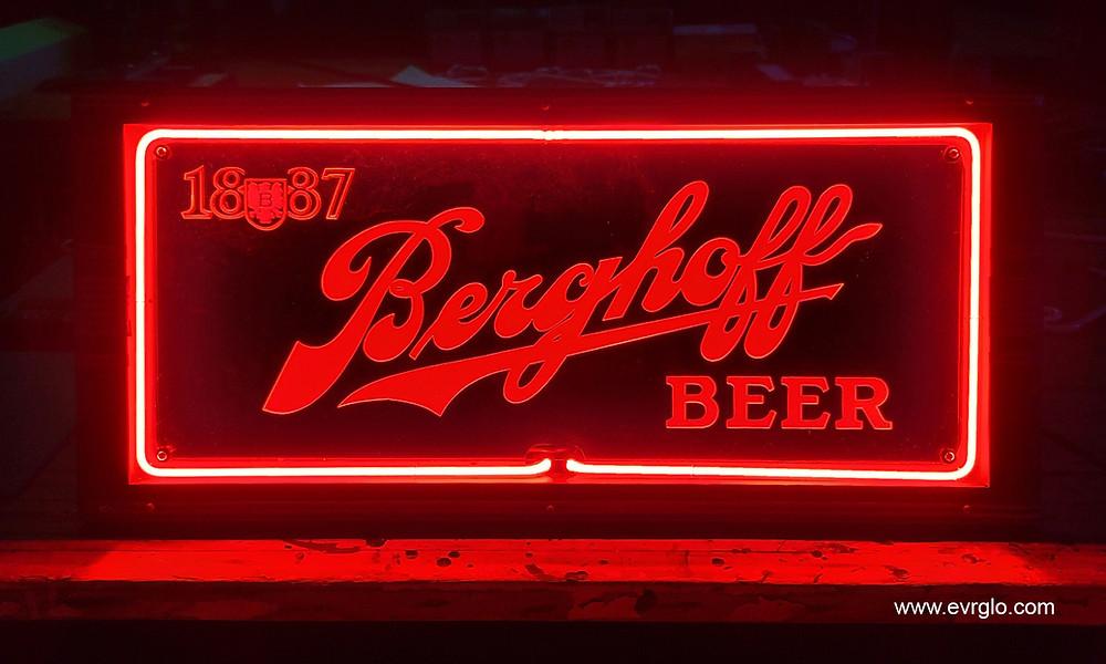 1887 Berghoff Beer Neon Sign