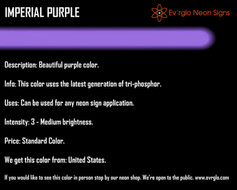 Neon Sign Color: Imperial Purple