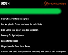 Neon Sign Color: Green