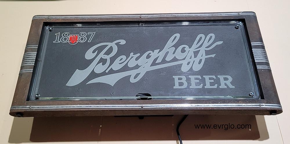 Berghoff Beer Neon Sign Fully Restored