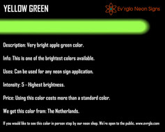Neon Sign Color: Yellow Green