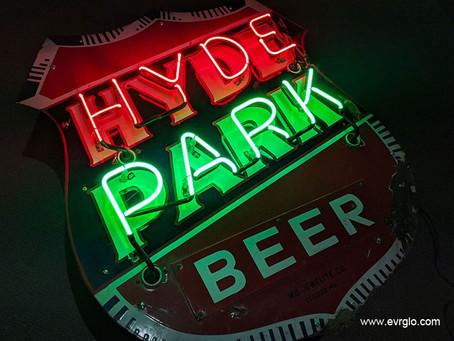 HYDE PARK BEER NEON SIGN