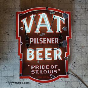 VAT Pilsener Beer Porcelain Neon Sign