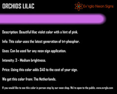 Neon Sign Color: Orchids Lilac