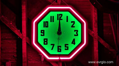 Electric Neon Clock Company neon clock