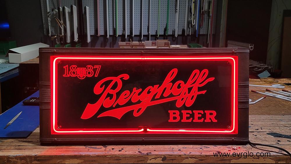 1887 Berghoff Beer Neon Sign Restoration Complete