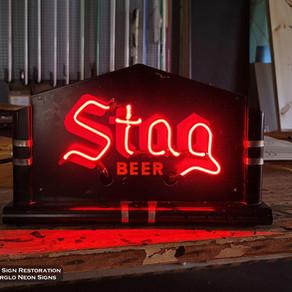 Stag Neon Sign Restoration
