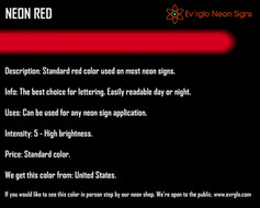 Neon Sign Color: Neon Red