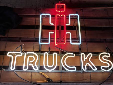International Harvester Trucks Neon Sign Repair