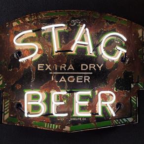STAG BEER PORCELAIN NEON SIGN