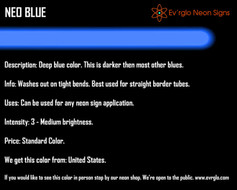 Neon Sign Color: Neo Blue
