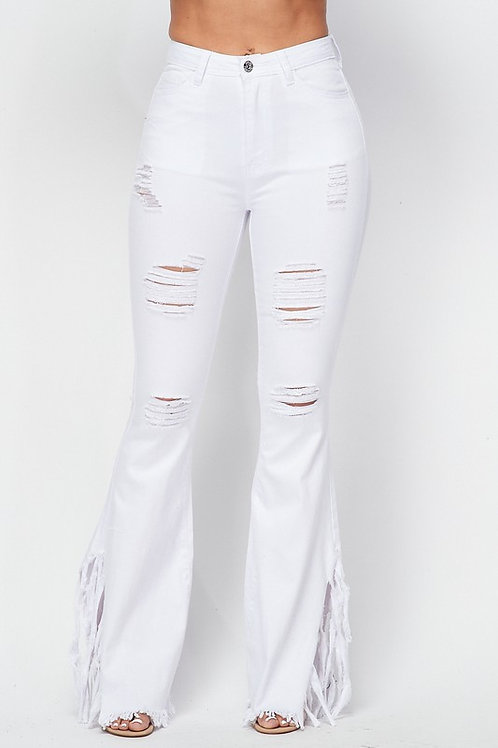 Plus Flare Destruction Jeans