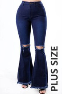 Plus High Waist Denim Jeans