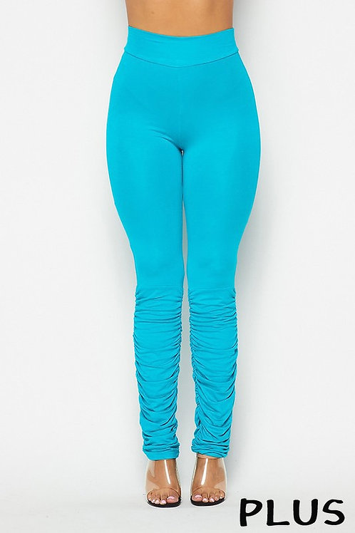 Plus Size Ruched Leggings