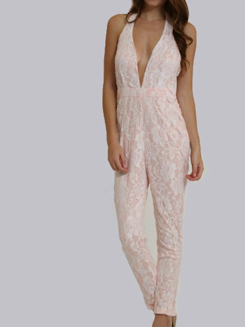 Lace Illusion Jumpsuit