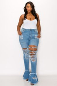PLUS HIGH RISE SKINNY FLARE JEAN