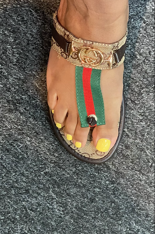 Gucci Red/Green Sandals