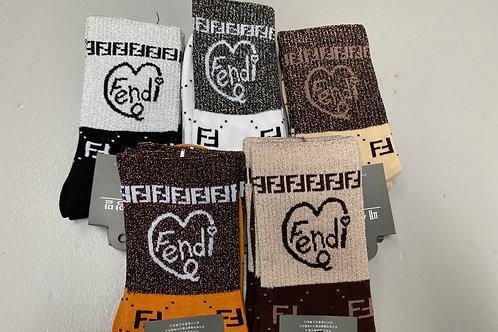 Fendi Shimmer Socks