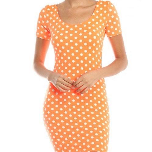 Orange Bodycon