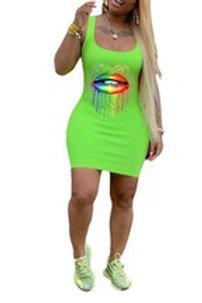 Colorful Lips Dress