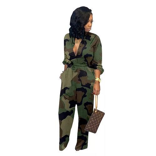 Camouflage Jumpsuit