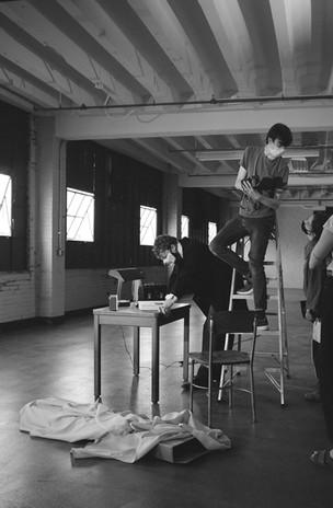 "Backstage at ""Assassins"""
