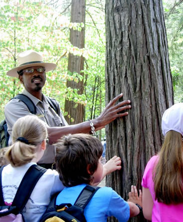 shelton with tree and kids_NPS