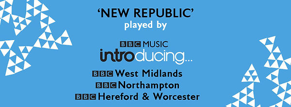 BBC Radio playing New Republic across the West Midlands, Northamptonshire, Hereford and Worcester