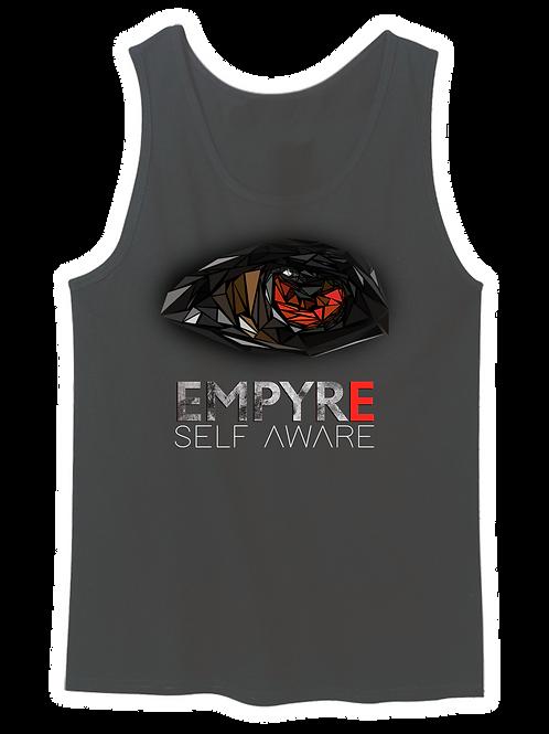 'Self Aware' Unisex Vest - Dark Grey (loose fit)