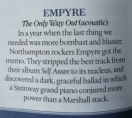 Empyre Classic Rock Magazine Only Way Out Ultimate Playlist 2020