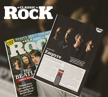 Empyre awarded a Classic Rock Magazine High Hopes feature