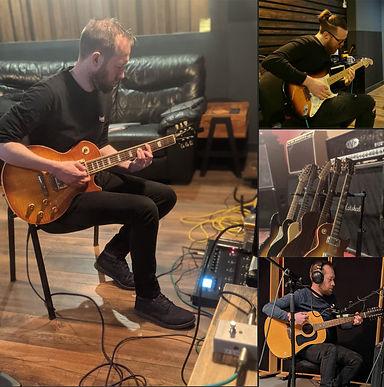 Henrik Empyre studio Gibson guitar