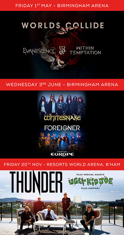 Empyre announce UK arena performances before Evanescence, Thunder, Whitesnake, Foreigner and Europe