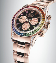 The Rolex Rainbow Daytona In Everose Gold