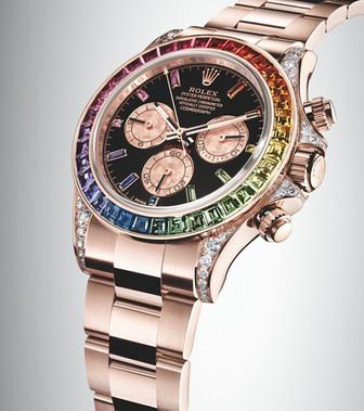 The Rolex Rainbow Daytona In Everose Gold