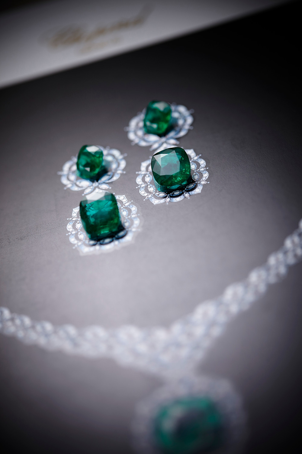 Emeralds during the design process