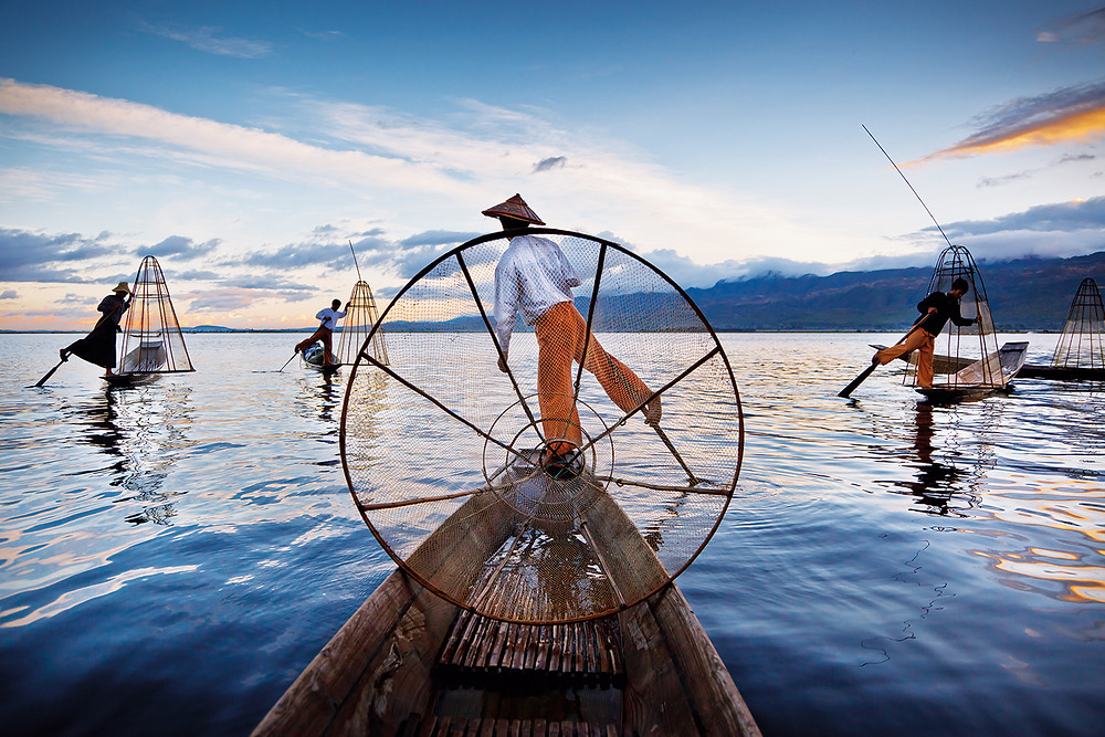 Intha fishermen on Inle lake
