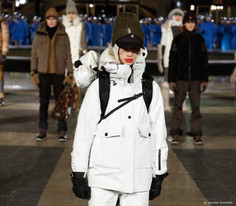 Moncler Grenoble Forces Fashion Insiders into the Freezing Night